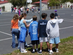 Peace Patrol using peer mediation to solve conflicts more quickly - while teaching leadership skills to each participant. The 1WOW event has often been used in kick-starting student or boosting such programs at a school.