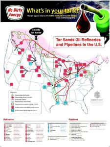 Map of planned Tar Sands Pipelines