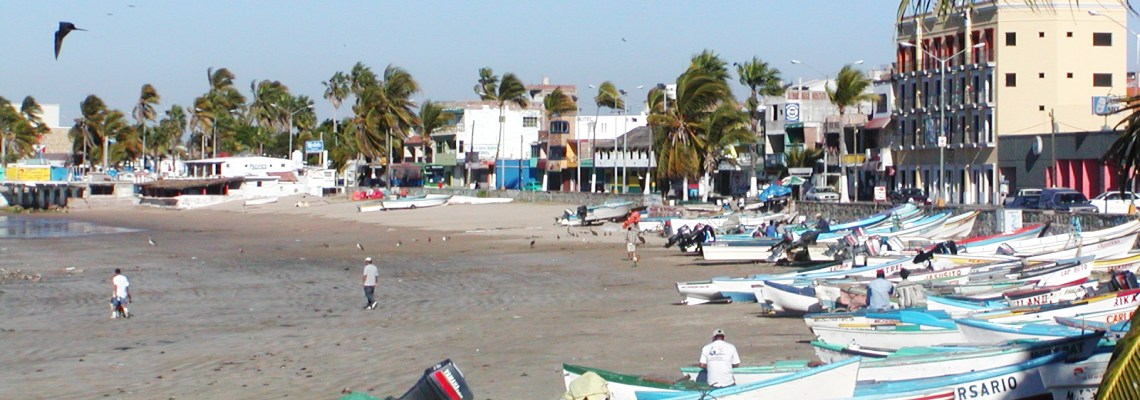 Mexican fishing beach